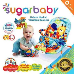 Deluxe Musical and Vibrating Baby Bouncer - Sugar Baby