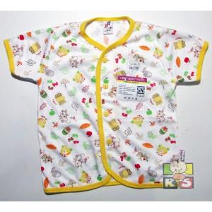 Baju Bayi Libby Lengan Pendek Kancing Depan Ukuran SML